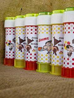 παρτυ Mr Bean σαπουνοφουσκες Mr Bean, Kids Party Themes, Party Ideas, Birthday Parties, Beans, Tableware, Food, Anniversary Parties, Dinnerware