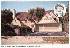 Barbara Stanwick's home, Holmby Hills, Los Angeles, California
