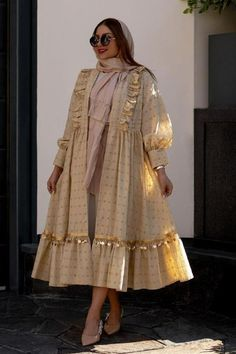 Abaya Fashion, Muslim Fashion, African Fashion Skirts, Fashion Dresses, Boutique Maxi Dresses, Mode Abaya, Mori Girl Fashion, Afghan Dresses, Colourful Outfits
