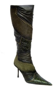 3990 Women knee-high boots El Dantes, Made in Spain ~ Honestly, EPIC!!  It makes me think of creatures from another universe.  WOW!