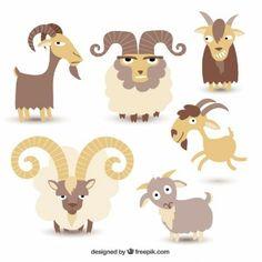 Goat illustration collection