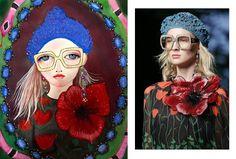 Art by Helen Downie, fashion by Gucci