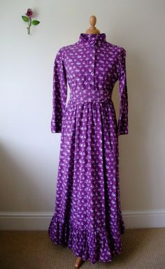 Original early 70s Laura Ashley Victorian style dress