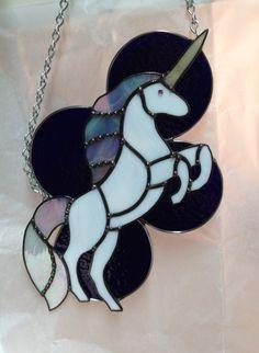 Handmade Fantasy Glass Pegasus Winged Stallion Suncatcher Gift Pastel