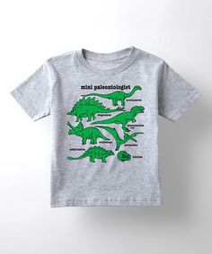Another great find on #zulily! Athletic Heather 'Mini Paleontologist' Tee - Toddler & Boys by LC Trendz #zulilyfinds