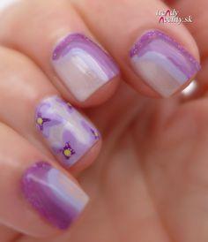 lilac, nail art, nail design