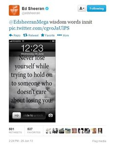 Someone asked ed about his lock screen and then he posted this. little scholar :}
