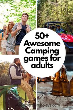 If you're looking for some fun camping games for adults to play, you've come to the right place. Check out over camping games to add to your next camping trip with friends. These games will guarantee that the adults will have a fun time! Camping Games For Adults, Couples Camping, Activities For Adults, Camping With Kids, Camping Friends, Cabin Activities, Outside Activities, Travel Activities, Outdoor Activities