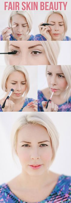SO SIMPLE! Spring/Summer makeup for fair skinned beauties