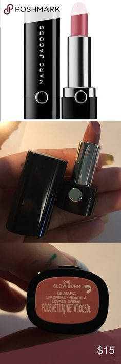 Marc Jacobs Le Marc Lip Creme brand new deluxe sized (0.05 oz) - Marc Jacobs Le Marc Lip Creme in shade - 246 slow burn / creamy nude rose - authentic & fast shipping Marc Jacobs Makeup Lipstick