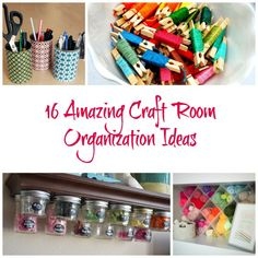 Give your craft room some organization love with therse 16 Amazing Craft Room Organization Ideas. Storage Room Organization, Sewing Room Storage, Craft Room Storage, Organization Ideas, Storage Ideas, Yarn Storage, Studio Organization, Paper Storage, Craft Rooms