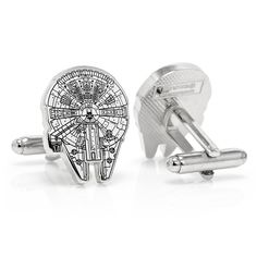 Ha! Would be awesome to get Garth for the wedding. - Star Wars Millenium Falcon Blue Print Cufflinks