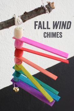 Balsa  Wood Wind Chimes - Easy Fall Art Project for Kids