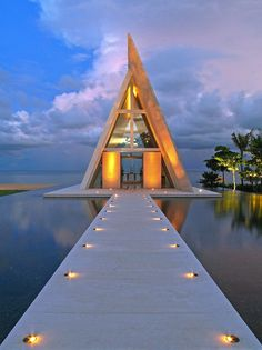 Such an unusual structure but awesome for a wedding ~ http://vipsaccess.com/luxury-hotels-caribbean.html
