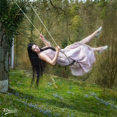 Photo by Maria Kimalle Model Fanny Di Favola #spring #swing #swinging #fairytale