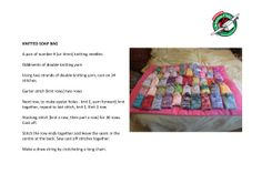 Soap bag - pattern & image Knitting For Charity, Easy Knitting, Double Knitting, Knitting Yarn, Knitting Patterns, Knitting Ideas, Christmas Shoebox, Kids Christmas, Shoe Box Appeal