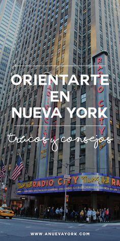Trucos y consejos para orientarte en Nueva York. Conoce la distribución de Manhattan y sus calles y avenidas. #NuevaYork