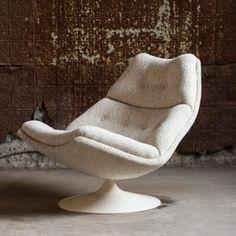 F584 Swivel Lounge Chair by Geoffrey Harcourt for Artifort « Van der Most Modern