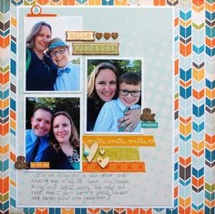 When you have photos with the men in your life and everyone is all dolled up you simply have to scrapbook them. Not much of a story to go along with these pics. But sometimes the smiles are enough! #scrapbooking #layout