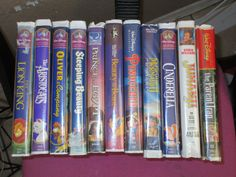 Walt Disney video classics on VHS Beauty and the Beast,Sleeping Beauty,Lion King,LIL Mermaid II,Oliver,Cinderella,Pinocchio,Aristocats  + by MYBARTERZONE on Etsy
