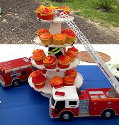 Firefighter cupcakes for EMS week