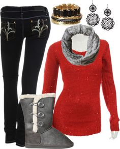 A cozy winter look from rue21.