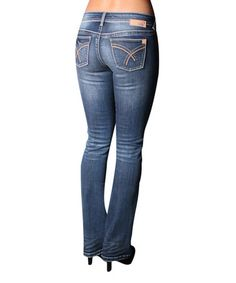 Loving this Light Stone Wash Low Rise Bootcut Jeans - Women & Plus on #zulily! #zulilyfinds ($55)