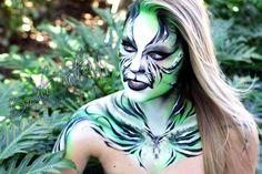 Becstar Artist/Anthony - tigeress face/body paint design