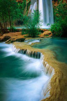 Havasu Travertine Waterfalls, Grande Canyon