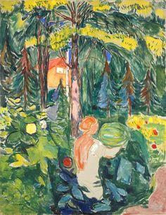 Woman with Pumpkin - Edvard Munch 1942 Munch Museum, Oslo