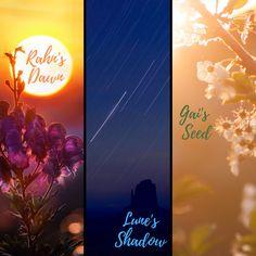 "The three main seasons of Sandair: Rahn's Dawn = The Summer Season, Lune's Shadow = The Rainy Season, and Gai's Seed = The ""Lets plant crops and party"" Season."