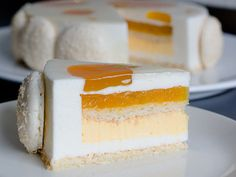 Coco Passion ~ delicate tropical cake with coconut and passion fruit mousse