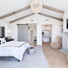 Attic Master Bedroom, Farmhouse Master Bedroom, Master Bedroom Design, Home Decor Bedroom, Bedroom Ideas, Bedroom Inspiration, Bedroom Wall, Diy Bedroom, Budget Bedroom