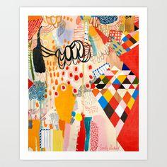 Wallpaper and Diamonds Part II Art Print by Emily Rickard | Society6