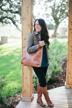 This is my favorite leather bag - now available in The Magnolia Market!