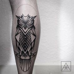 Ideas Of Cool Geometric Tattos Owl Tattoos On Arm, Wolf Girl Tattoos, Skull Rose Tattoos, Dragon Sleeve Tattoos, Body Art Tattoos, Tattoo Owl, Owl Tattoo Design, Best Tattoo Designs, Music Tattoos