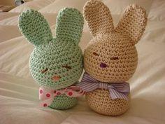 Ravelry: Love Bunnies pattern by Erika Hughes Easter Crochet, Crochet Bunny, Cute Crochet, Crochet Animals, Crochet For Kids, Crochet Dolls, Crochet Toys Patterns, Amigurumi Patterns, Stuffed Toys Patterns