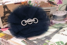 Fascinating Black Tulle Deco Clip/Pin by NewCreatures on Etsy, $18.00