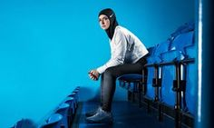 Nike launches hijab for female Muslim athletes   US-based company becomes the first large sportswear brand to manufacture a performance hijab  Figure skater Zahra Lari model wears Nike's new hijab.