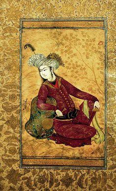 Images from the page Reza Abbassi Mughal Miniature Paintings, Mughal Paintings, Islamic Paintings, Islamic Art Pattern, Persian Culture, Iranian Art, Historical Art, Oriental, Ottoman