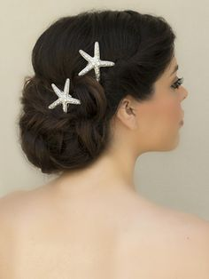 "Rhinestone Starfish Bridal Hair Comb ~ ""Catalina"" Bridal Hair Accessories, Wedding Headpieces, Bridal, Wedding, Hair Accessories, Headpieces, Combs, Clips, Hair Pins, Flowers, Headbands, Tiaras, Jewelry, Vintage, Beach - Hair Comes"