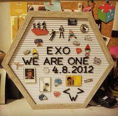 Exo Stickers, Exo Merch, Kpop Diy, Exo Album, Exo Korean, Exo Members, Room Tour, Diy Room Decor, Home Decor