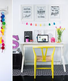 Blogger, Simone Duckworth, loves a pop of colour-.