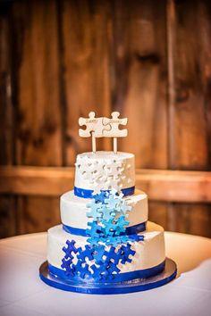 Puzzle Wedding Cake