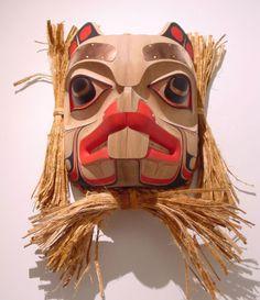 Beaver Mask by William Kuhnley, Nuu-chah-nulth (Ditidaht) artist Native American Masks, Cool Masks, Indigenous Art, Aboriginal Art, Totems, Native Art, First Nations, Tribal Art, Indian Art
