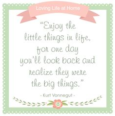 Enjoy the little things, in life (and marriage)!