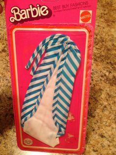 Vintage Barbie Doll Clothing Best Buy Fashions Halter Dress #2557 1975 NISB #Mattel