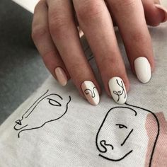 White Nail Designs, Simple Nail Designs, White Nails With Design, Designs For Nails, Nail Designs For Spring, Dope Nail Designs, Neutral Nail Designs, Elegant Designs, Short Nail Designs
