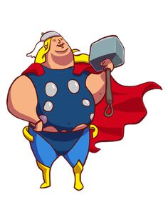 Fat Thor. What If Superheros Let Themselves Go? #thor #graphicdesign #superheros
