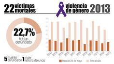 Gráfico: los 22 asesinatos por violencia machista de 2013